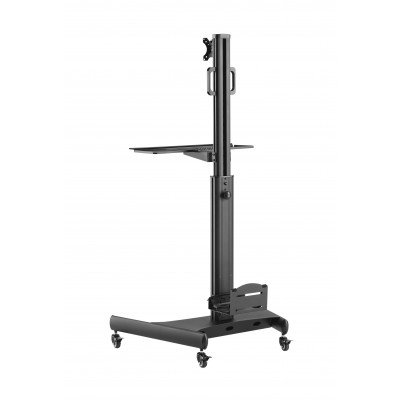 """Floor Trolley with Shelf and CPU Holder for LCD/LED/Plasma TV 13-32"""" - Techly - ICA-TR41-5"""