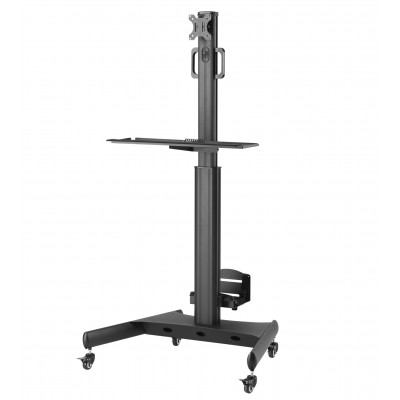 """Floor Trolley with Shelf and CPU Holder for LCD/LED/Plasma TV 13-32"""" - Techly - ICA-TR41-4"""