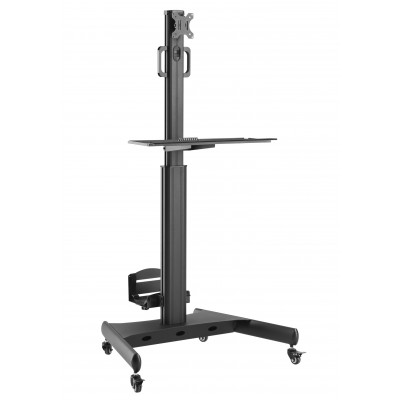"""Floor Trolley with Shelf and CPU Holder for LCD/LED/Plasma TV 13-32"""" - Techly - ICA-TR41-1"""