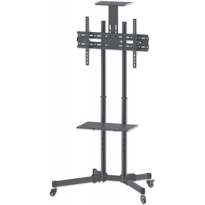 """Floor Trolley with Shelf LCD/LED/Plasma 37-70""""  - Techly - ICA-TR16T-4"""