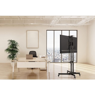 """Floor Trolley with Shelf LCD/LED/Plasma 37-70""""  - Techly - ICA-TR16T-6"""