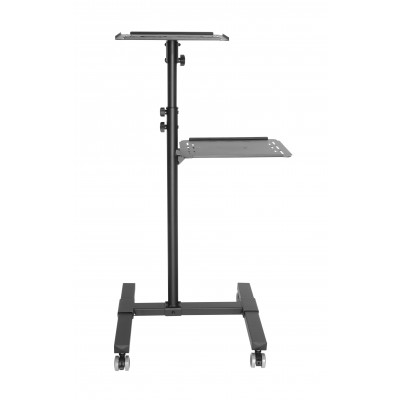 Universal Adjustable Trolley for Notebook Projector with Shelf Black - Techly - ICA-TB TPM-10-5