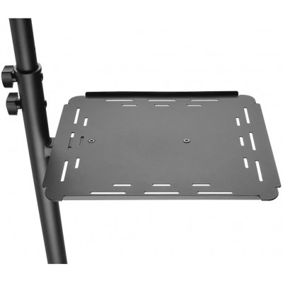 Universal Adjustable Trolley for Notebook Projector with Shelf Black - Techly - ICA-TB TPM-10-9