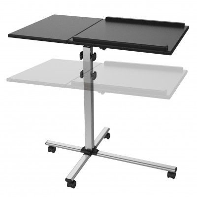 Universal Adjustable Trolley for Notebook Projector, Black - Techly - ICA-TB TPM-2-3