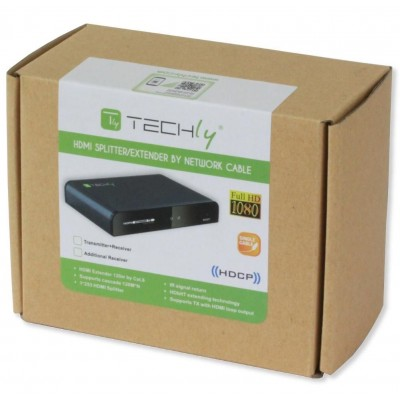 HDbitT HDMI Extender with IR on cable Cat. 5E / 6 up to 120m - Techly - IDATA EXTIP-383IR-1