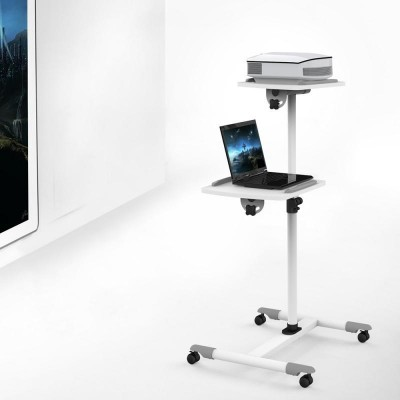 Universal Trolley for Notebook / Projector, White - Techly - ICA-TB TPM-6-4