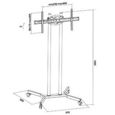 """37""""-70"""" Floor Stand for LCD / LED / Plasma TV - Techly - ICA-TR4-5"""