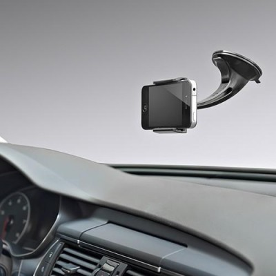 "Car Holder for iPhone and Smartphone 3.5"" - 5.5"" with Suction - Techly - I-SMART-VENT5-5"