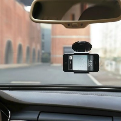 "Car Holder for iPhone and Smartphone 3.5"" - 5.5"" with Suction - Techly - I-SMART-VENT5-7"