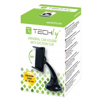 "Car Holder for iPhone and Smartphone 3.5"" - 5.5"" with Suction - Techly - I-SMART-VENT5-1"
