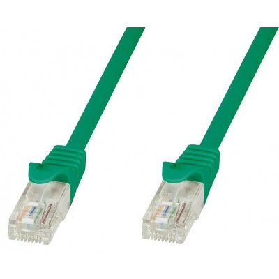 Network Patch Cable Cat.5E in CCA UTP 1m Green - Techly Professional - ICOC CCA5U-010-GREET-1