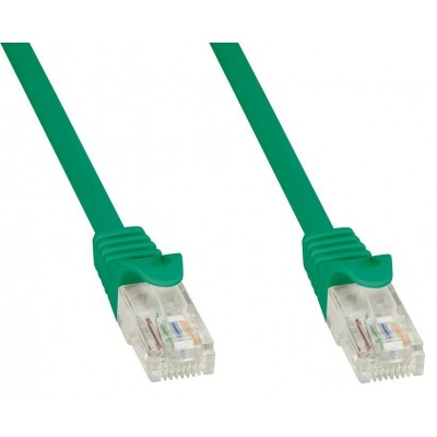 Network Patch Cable Cat.5E in CCA UTP 1m Green - Techly Professional - ICOC CCA5U-010-GREET-2