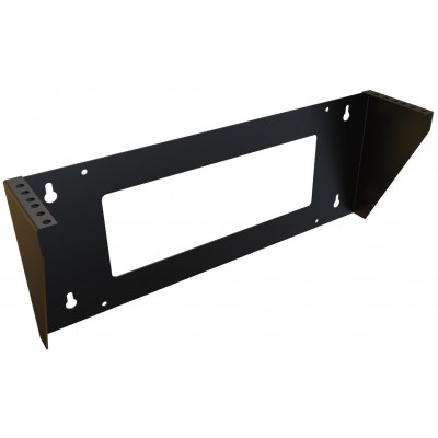 "Vertical Wall Mounting Bracket 19"" 2U Black Easyline - Techly Professional - I-CASE EF-3002BK-1"