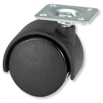 Spare Wheel with Mounting Plate 35mm for Office Chairs - Techly - ICA-CT WH3-1