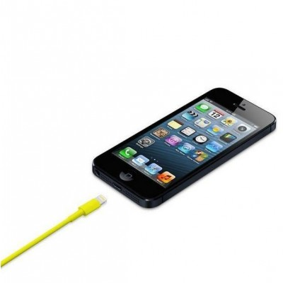 Lightning to USB2.0 Cable 8p Yellow 1m - Techly - ICOC APP-8YE-3