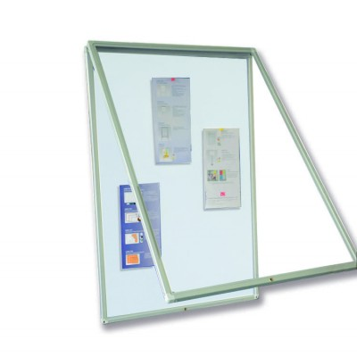 Magnetic Bulletin Board 90x120 with Lock - Techly - ICA-BM 90120M-1