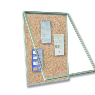 Cork Bulletin Board 90x120 with Lock - Techly - ICA-BM 90120S-1