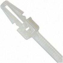 Cable Ties Clip 200x4,8mm with Graft Free Nylon 100 pcs White - Techly - ISWTA-20048B