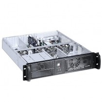 "Industrial 19"" Rack Chassis 2U Black - Techly - I-CASE IPC-2055"