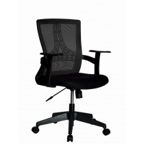 Office Chair with Middle Back Black - Techly - ICA-CT MC058BK