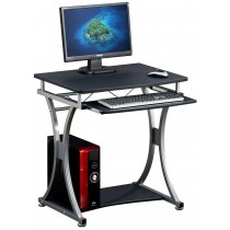 Compact Desk for PC with Removable Tray, Black Graphite - Techly - ICA-TB 328BK