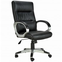 Directional Chair with Padded Armrests Black - Techly - ICA-CT 899