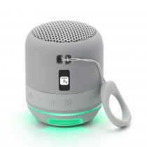 Wireless Portable Speaker with Speakerphone and LED Lights Gray - Techly - ICASBL94GR