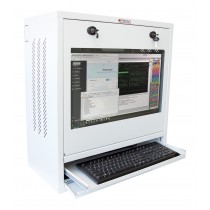 PC, LCD monitor and keyboard safety cabinet, White  - Techly Professional - ICRLIM10W