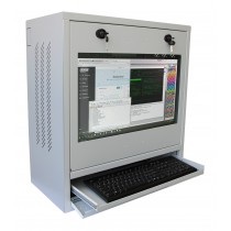 PC, LCD monitor and keyboard safety cabinet, Grey - Techly Professional - ICRLIM10