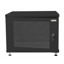 "19"" Rack Cabinet Ideal for Photovoltaic Accumulators 8U P600mm Black - Techly Professional - I-CASE EE-2008BK6"