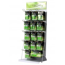 Desk Exhibitor Stand for Batteries 80cm - Techly - I-TLY-BATTERY2