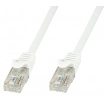 Network Patch Cable in CCA Cat.5E UTP 10m White - Techly Professional - ICOC CCA5U-100-WHT