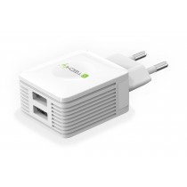 USB charger 2 outputs - Techly - IPW-USB-EC152W