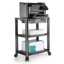 Height-Adjustable Smart Cart with Three-Shelves and Drawer - Techly Np - ICA-MS 405