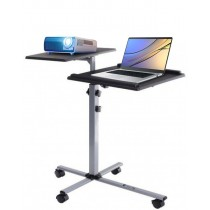 Height-Adjustable Two-Shelf Laptop and Projector Trolley - Techly - ICA-TB TPM-2