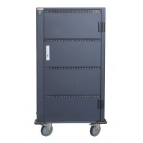 Charging Station Trolley 80 USB Notebook or Smartphone Black - Techly Professional - I-CABINET-80DUTY