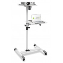 Trolley Support for Projector Beamer Notebook PC Adjustable Shelves - Techly - ICA-TB TPM-6