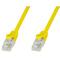 Copper Patch Cable Cat.6 UTP 10m Yellow - Techly Professional - ICOC U6-6U-100-YET