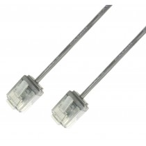 Network Cable Patch Ultra Slim Copper Cat.6 White UTP 0,25 m - Techly Professional - ICOC U6-SLIM-0025T