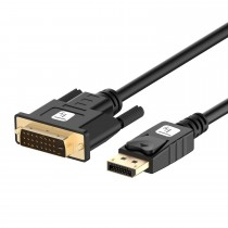 DisplayPort Male to DVI Male Passive Monitor Cable 1m Black - Techly - ICOC DSP-C12-010P