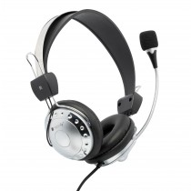 Stereo Headphone with Microphone and Volume Control - Techly - ICC-SH-517TY