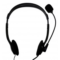 Stereo Headphone with Microphone and Volume Control - Techly - SB-HP3TY