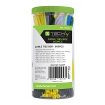 Colored Cable Ties Box 600pcs - Techly - ISWT-SET-CL600T
