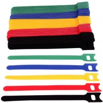 Multicolor Velcro Cable Ties Set of 10pcs - Techly - ISWT-VEL10-COLT