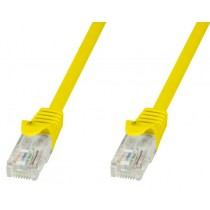 Network Patch Cable in CCA Cat.5E UTP 20m Yellow - Techly Professional - ICOC CCA5U-200-YET