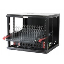 Removable bracket with 14 Recharging Slots for Smartphone Tablet - Techly Professional - I-CABINET-TRAY14BK