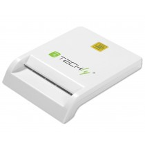 Compact Smart Card Reader/Writer USB2.0 White - Techly - I-CARD CAM-USB2TY