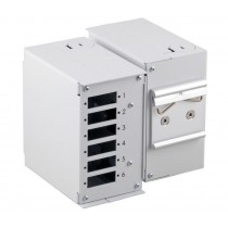 Mini Optical Box on DIN Rail without Front Panel - Techly Professional - I-CASE DIN-SPLICET