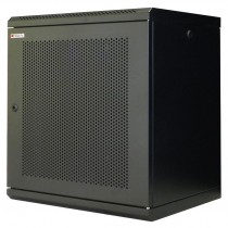 "Wall Rack Cabinet 10"" 6U Grilled Door Black - Techly Professional - I-CASE EM-1006BKVTY"