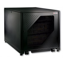 "Rack Cabinet 19"" 600x1000 12U for Under-Desk to Assemble Black - Techly Professional - I-CASE FP-I1210BK"